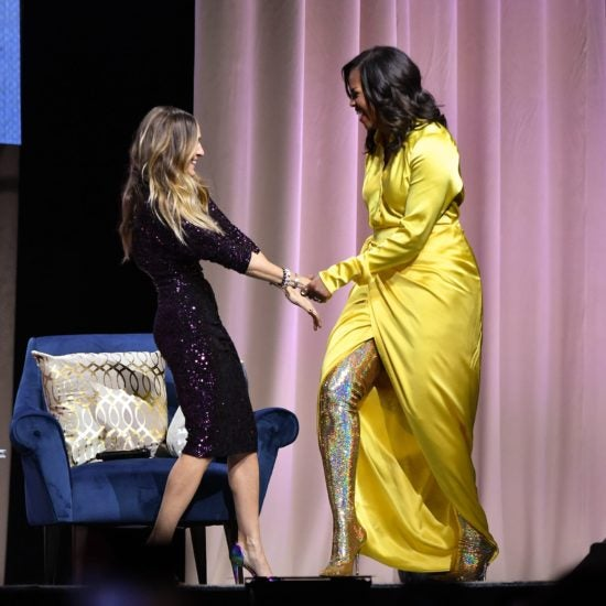 Michelle Obama's Metallic Boots Gave Us So Much Life We Had To Get The Details!