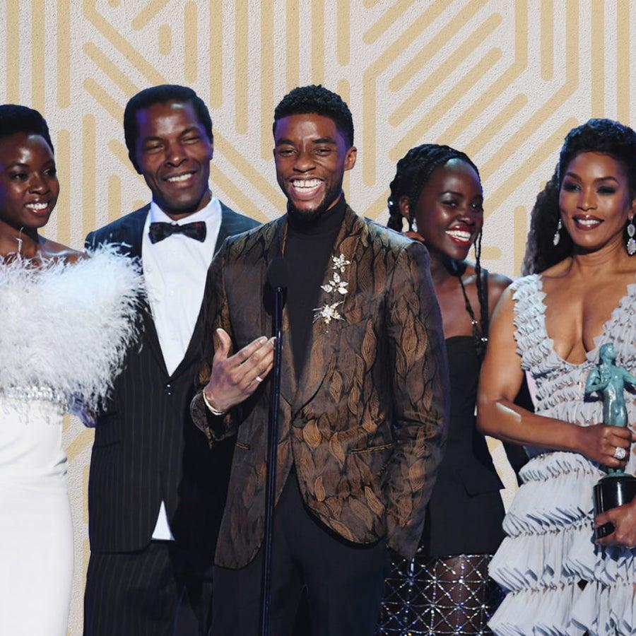 Chadwick Boseman Takes Us To Church After 'Black Panther' Wins Top Prize At Sag Awards