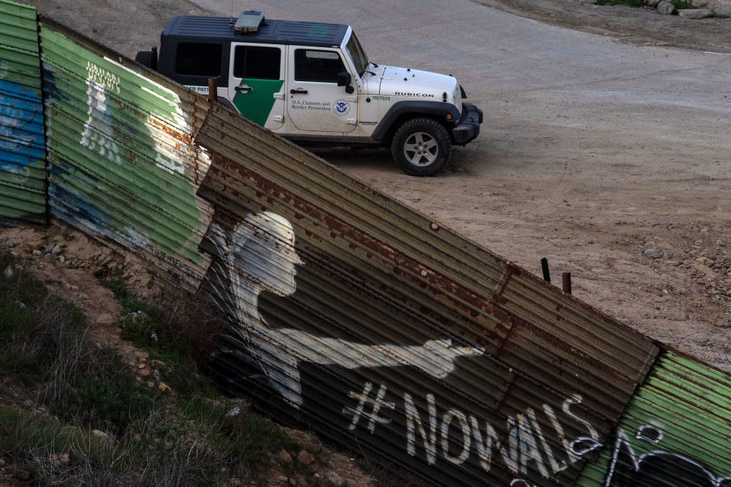 border patrol unit guards the US-Mexico border from migrants