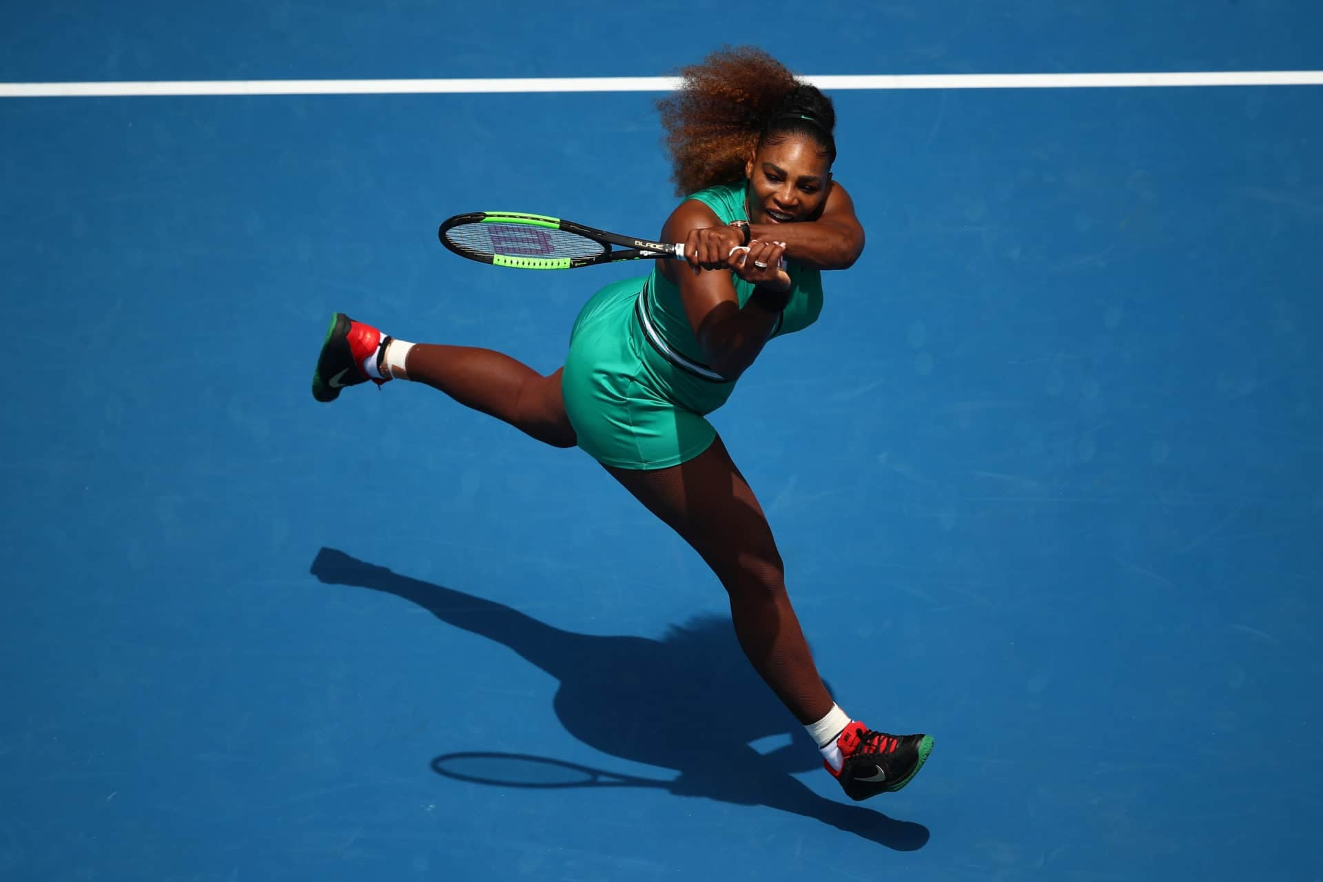 Serena Williams Consoles Opponent After Winning 1st Round At Australian Open