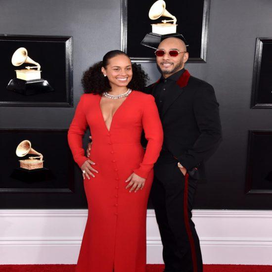 Swizz Beatz Was His Wife Alicia Keys's Biggest Fan Last Night At The Grammys