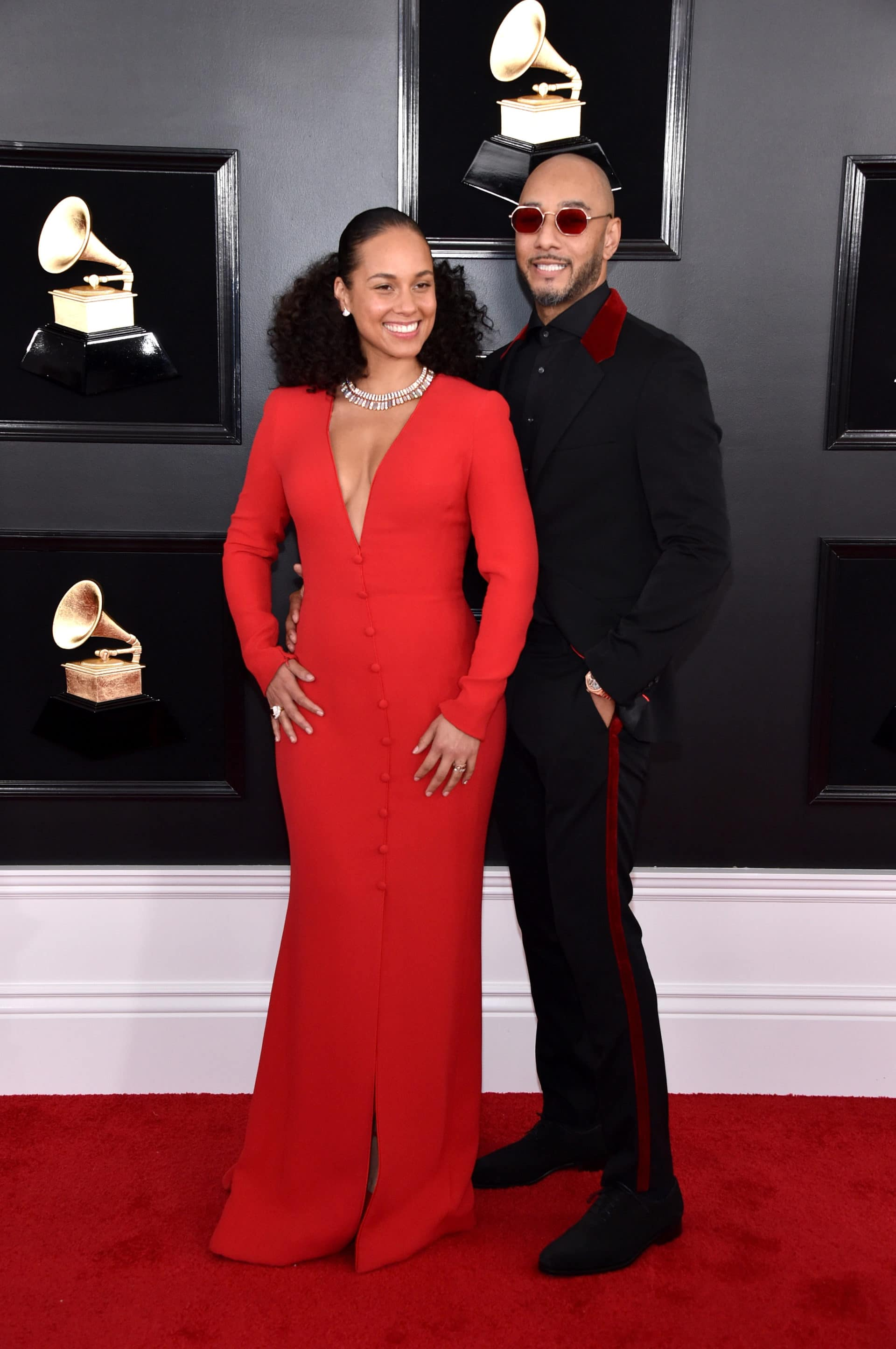 Swizz Beatz Was His Wife Alicia Keys' Biggest Fan Last Night at the Grammys