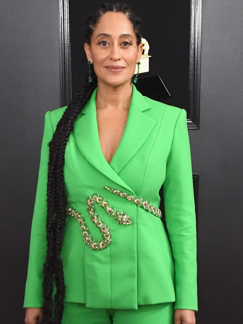 Tracee Ellis Ross's Green Grammys Look Has Us In a Suit-Shopping Frenzy