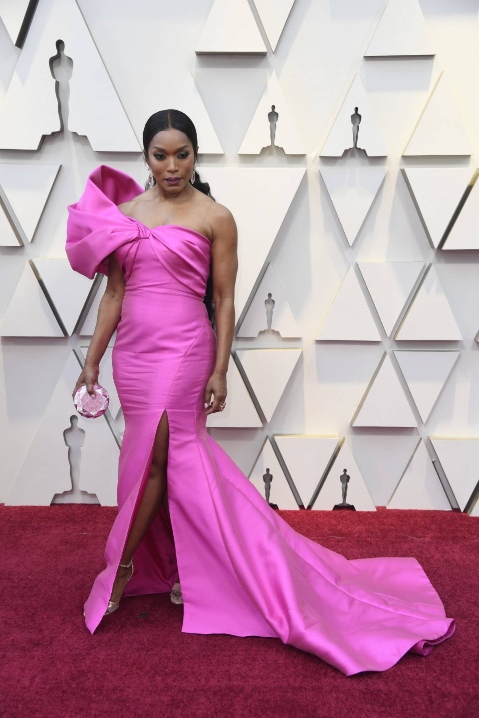 Get The Oscars Look: Angela Bassett's Pink Pout and Radiant Glow Stole the Show. Now It's Your Turn