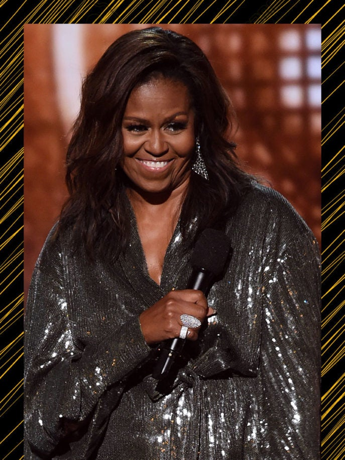 Michelle Obama Surprises Us At The 2019 Grammy Awards In Stunning Fashion