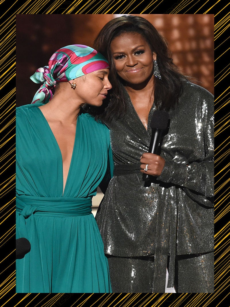 Michelle Obama Celebrates The Influence Of Black Music During A Surprise Appearance At The Grammy Awards