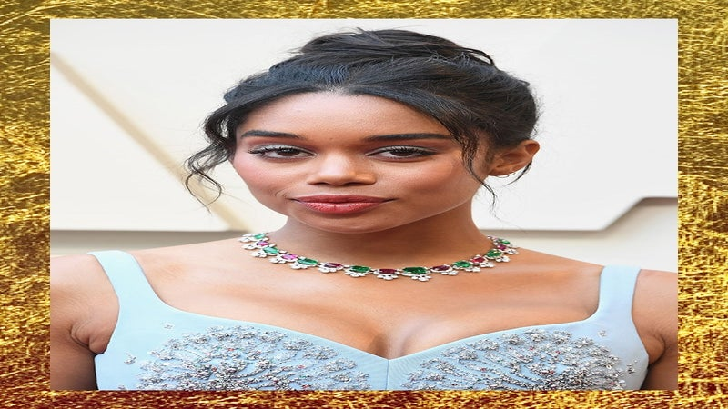 Laura Harrier Goes 'Green' For The Oscars 2019 Red Carpet