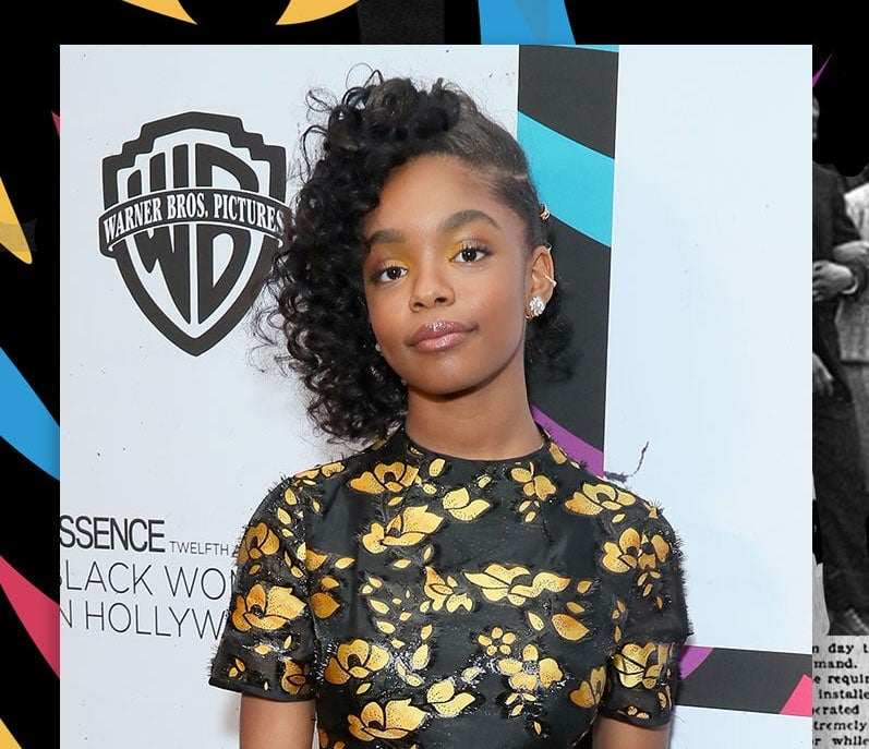 Marsai Martin Honored With Reign On Award On Black Women In Hollywood Red Carpet