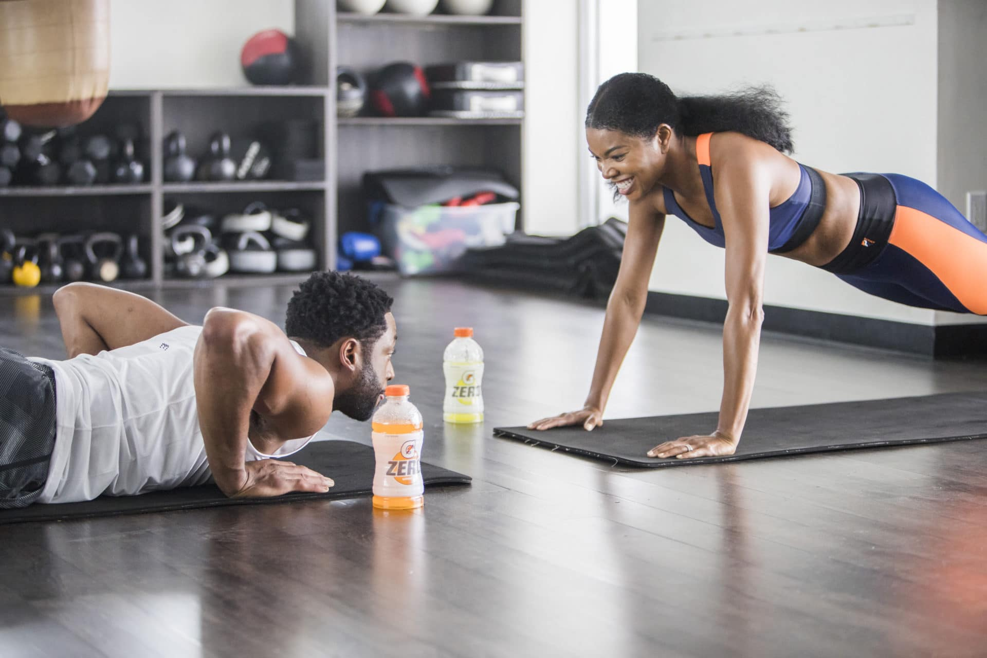 Exclusive: Gabrielle Union and Dwyane Wade Go To Battle In Hilarious New Gatorade Zero Commercial