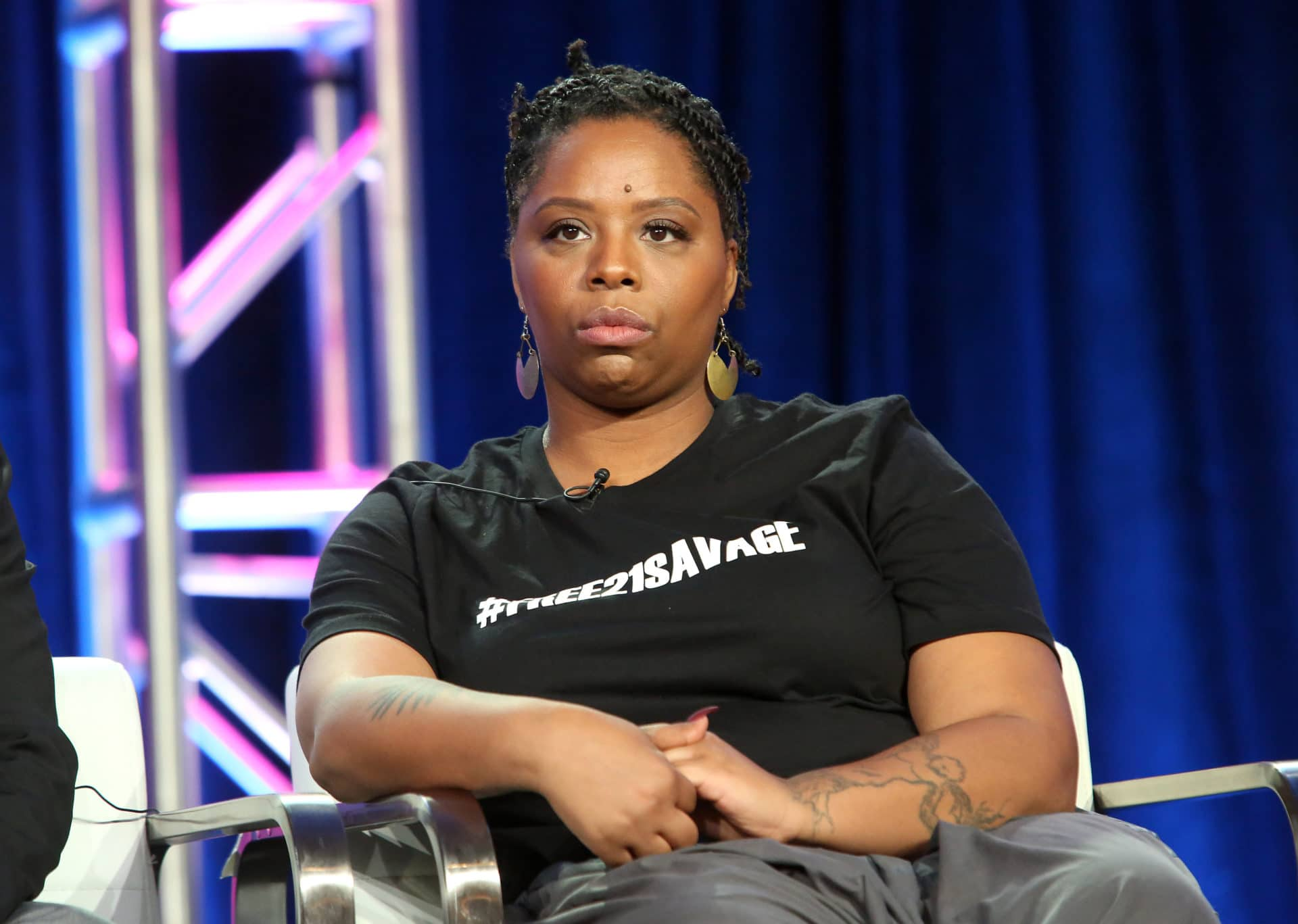 Black Lives Matter Co-Founder Patrisse Cullors Speaks On African Americans Supporting Immigration Rights