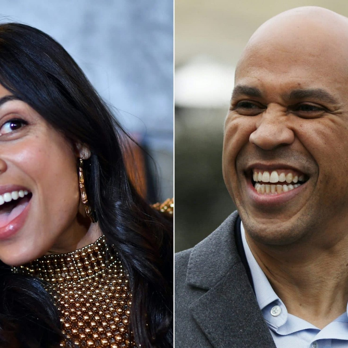 Sen. Corey Booker Brings Girlfriend Rosario Dawson On The Campaign Trail For The First Time