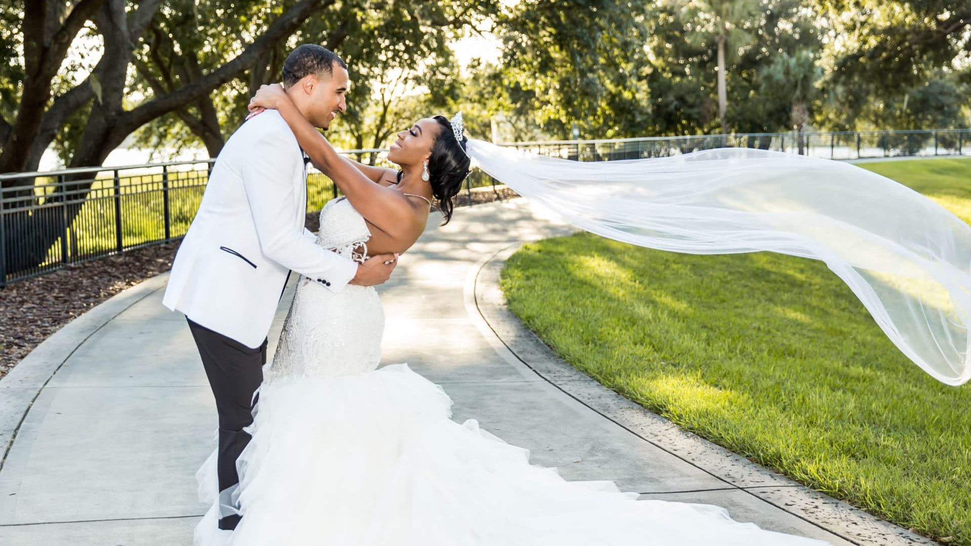 Bridal Bliss: Two Snaps For Altrichia and Anthony's All-White Summer Wedding