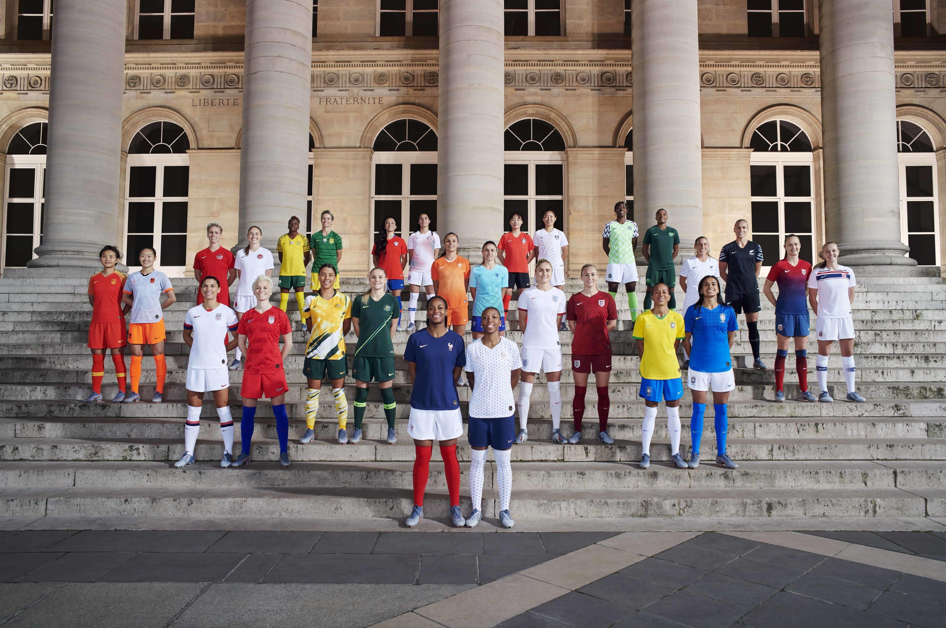 cd9700f23b52d In celebration of this summer's FIFA Women's World Cup in France, Nike  unveiled 14 National Team Collections.