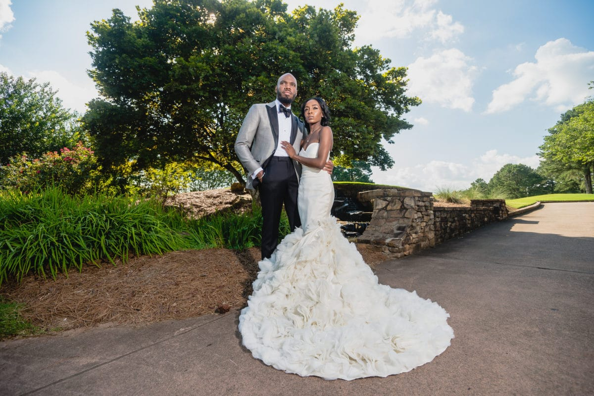 bc308732e83e5 Bridal Bliss  Raquel and Jahlell Had A Regal Wedding Fit For A King ...