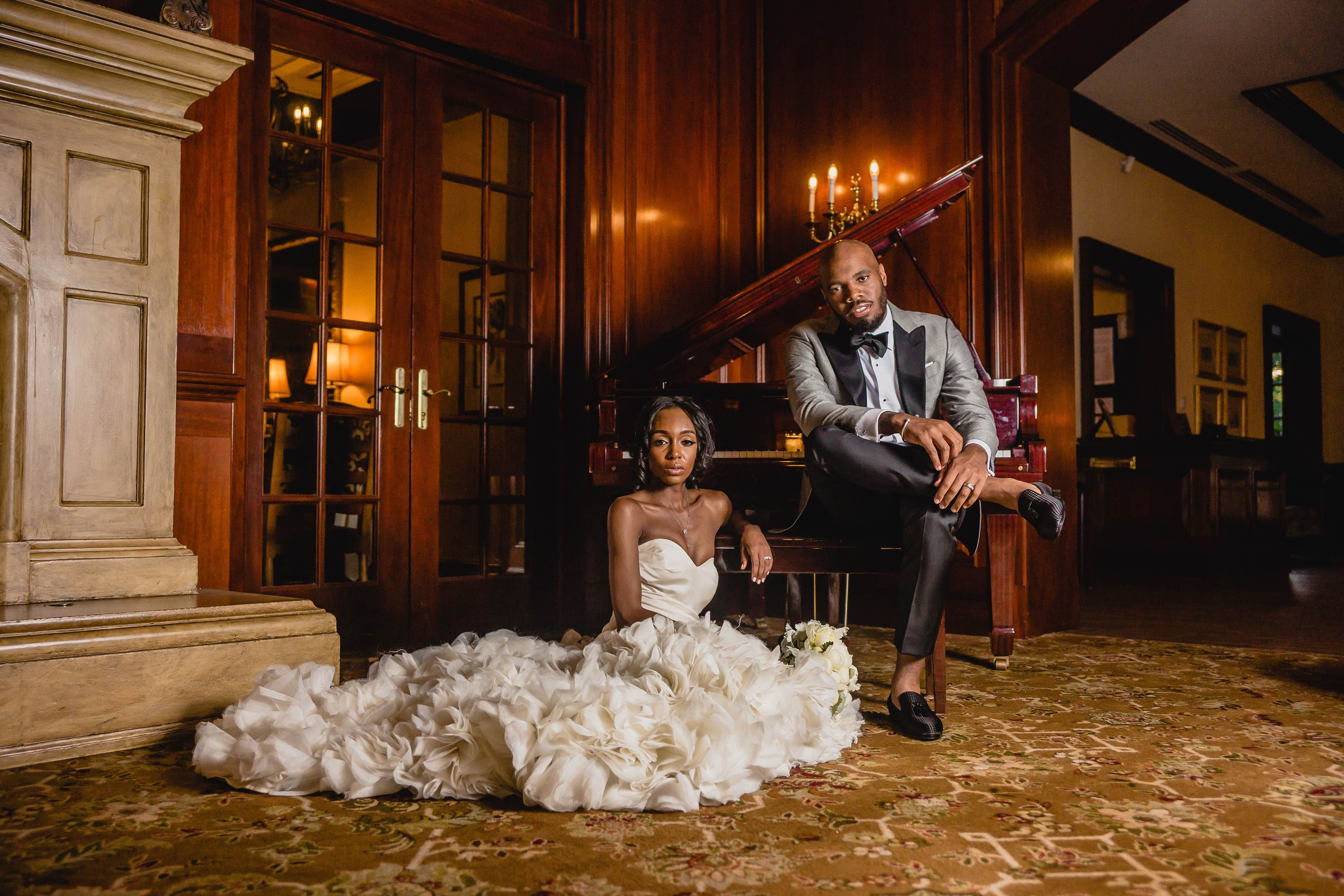 9a8c391e8a8a Bridal Bliss  Raquel and Jahlell Had A Regal Wedding Fit For A King and  Queen - Essence