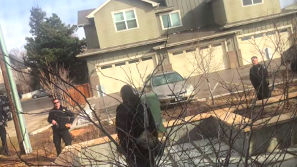 Black Man Picking Up Trash In Front Of His Own House Confronted By Cops With Guns Drawn