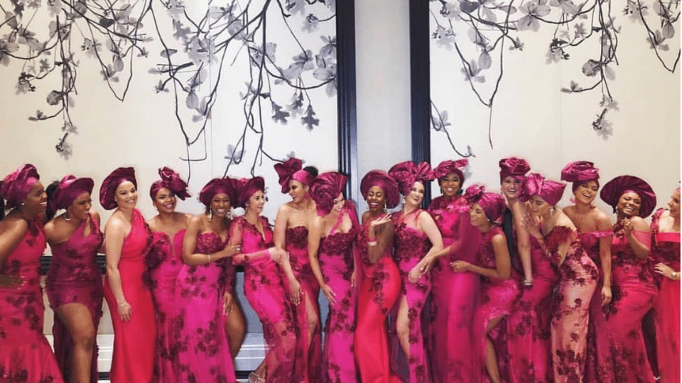 Black Wedding Moment Of The Day: Squad Goals Courtesy Of This Opulent Houston Wedding