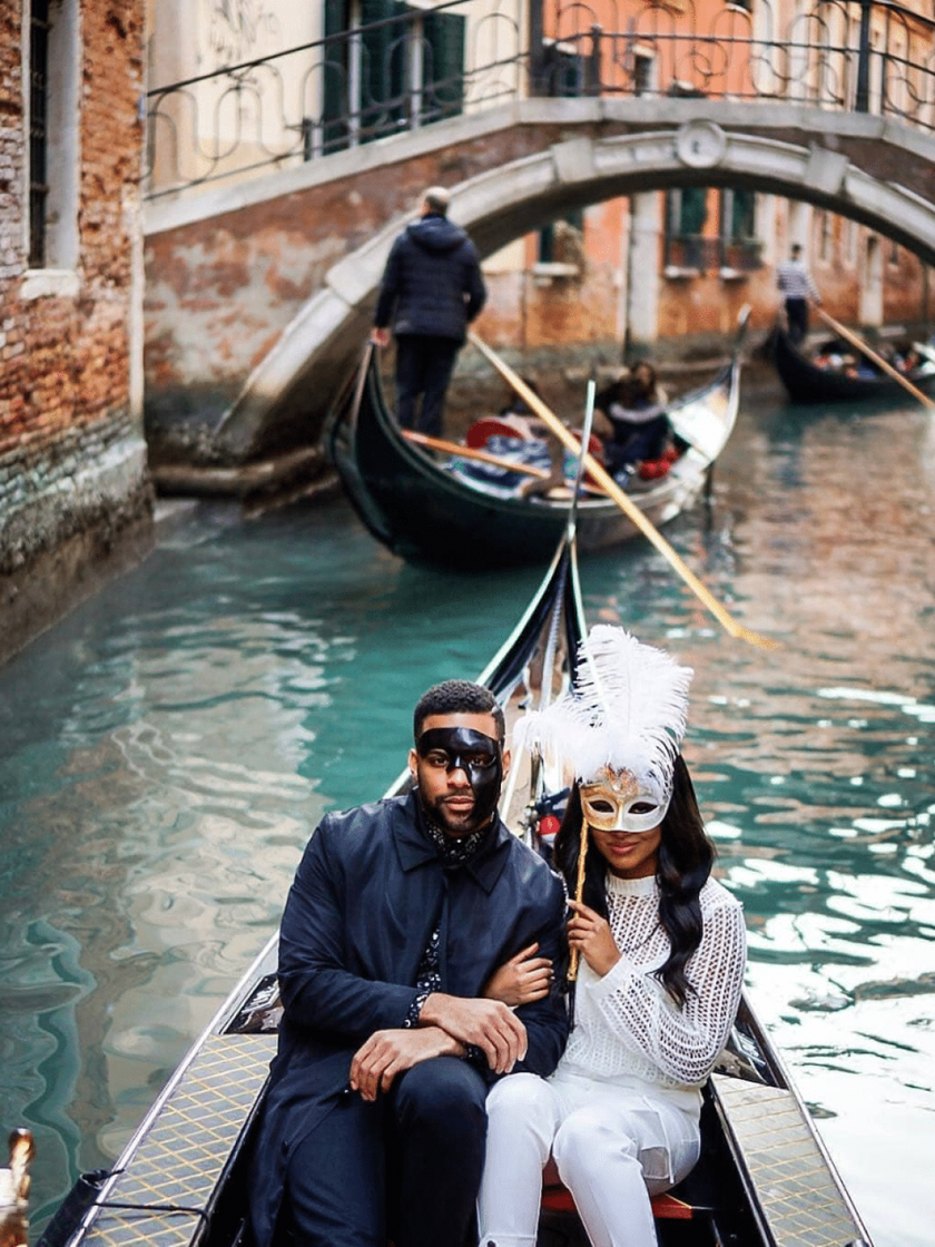 Black Travel Moment of the Day: This Couple Leveled Up Their Romantic Gondola Ride In Italy