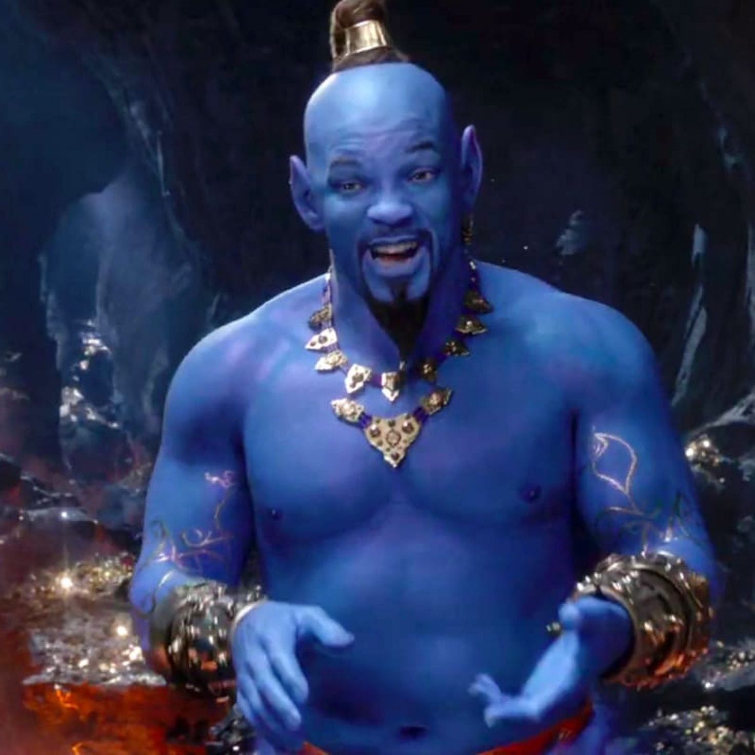 Watch Will Smith Become Genie In The New 'Aladdin' Trailer