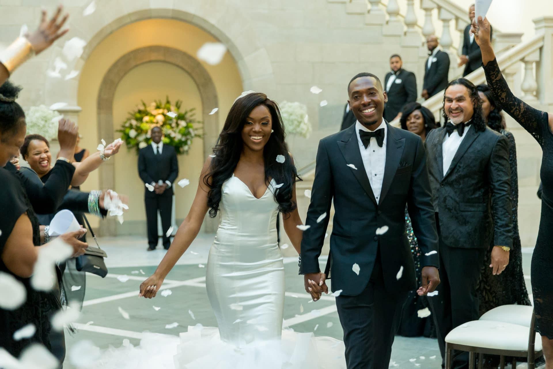 7ea0db6aea4a Bridal Bliss  Sydnisha and Johnathan s Black-Tie Wedding Was A Work Of Art  - Essence