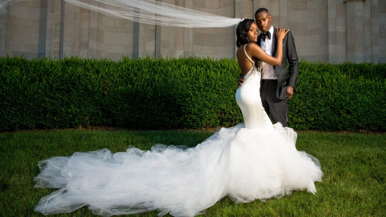 cec9755929f Bridal Bliss  Sydnisha and Johnathan s Black-Tie Wedding Was A Work Of Art