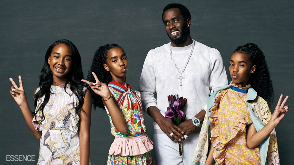 Diddy and Daughters Grace The Cover of ESSENCE As He Opens Up About Loving and Losing Kim Porter