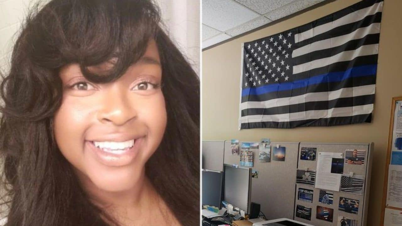 Black Corrections Officer Who Complained About 'Blue Lives Matter' Flag Receives $100,000 Settlement - Essence
