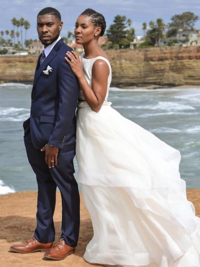 Black Wedding Moment: This Couple Eloped On The Beach In San Diego