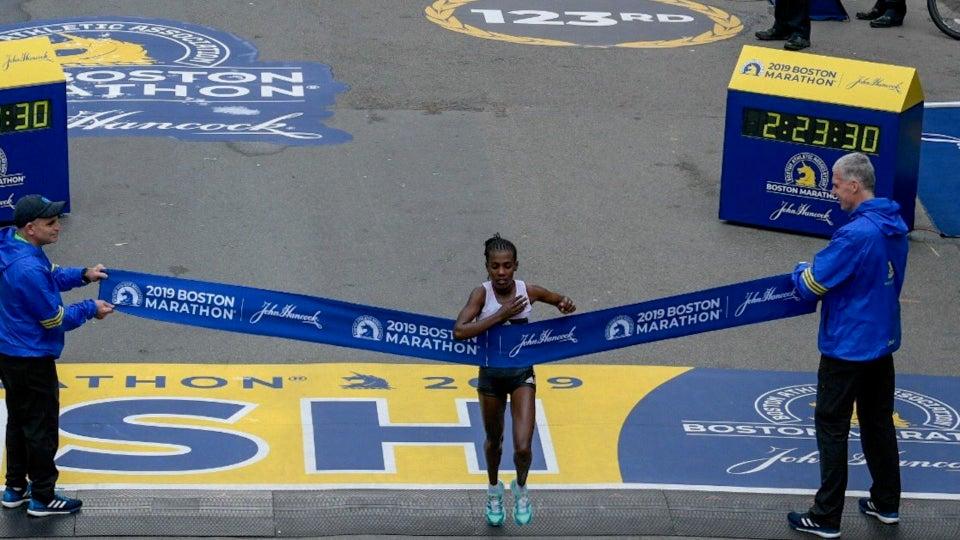 Ethiopia's Worknesh Degefa Wins The Boston Marathon Women's Race