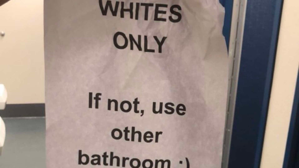 """'Whites Only"""" Note Found In Georgia High School Bathroom"""