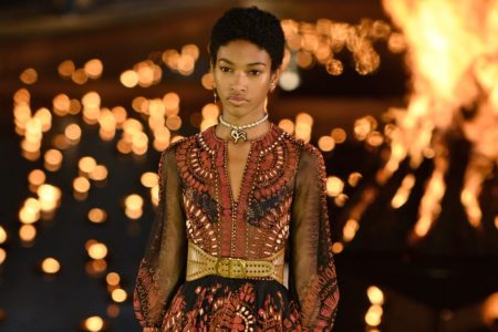 Afros, Cornrows, And Other Natural Styles Were At The Forefront Of Dior's Cruise 2020 Runway Show