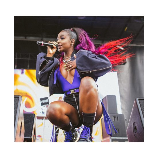 Justine Skye's Purple Suspended 'Jezebel' Ponytail Re-Gagged Instagram