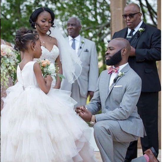 Black Wedding Moment: This Groom's Dedication To His Step Daughter Will Warm Your Heart