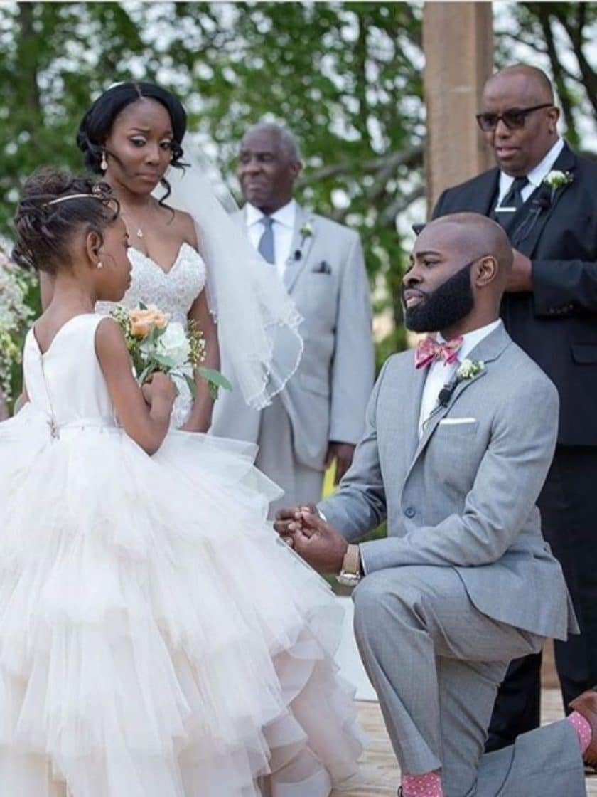 Black Wedding Moment Of The Day: This Groom's Dedication To His Step Daughter Will Warm Your Heart
