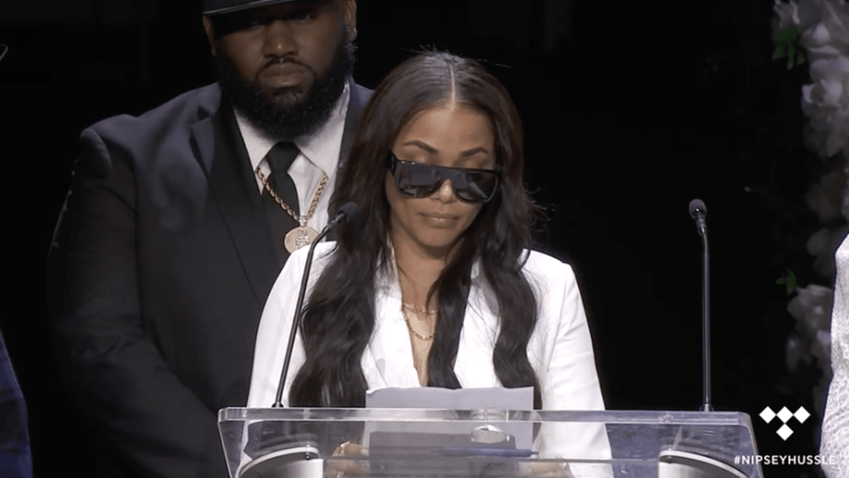 Lauren London Gets Emotional At Nipsey Hussle's Memorial: My Son 'Won't Remember How Much His Daddy Loved Him'