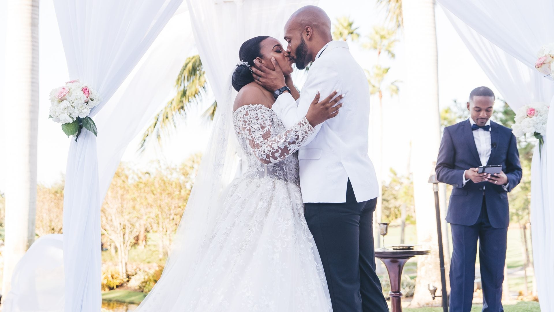 Bridal Bliss: Kareem and Sandy Shared Their Very First Kiss At The Altar