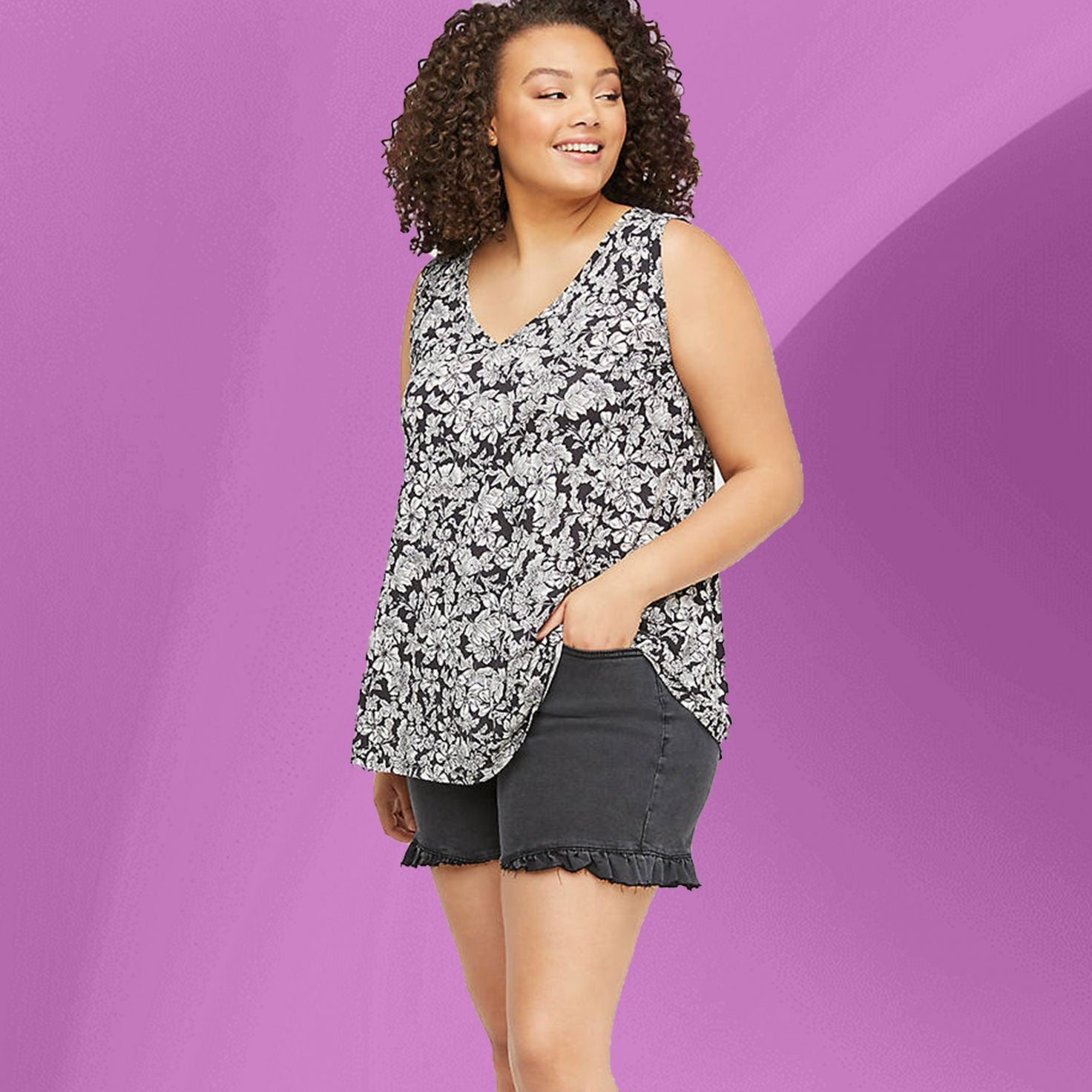 Oh Hey, Curvy Girl! These Denim Cut Offs Are Exactly What You Need For Sweltering Hot Days