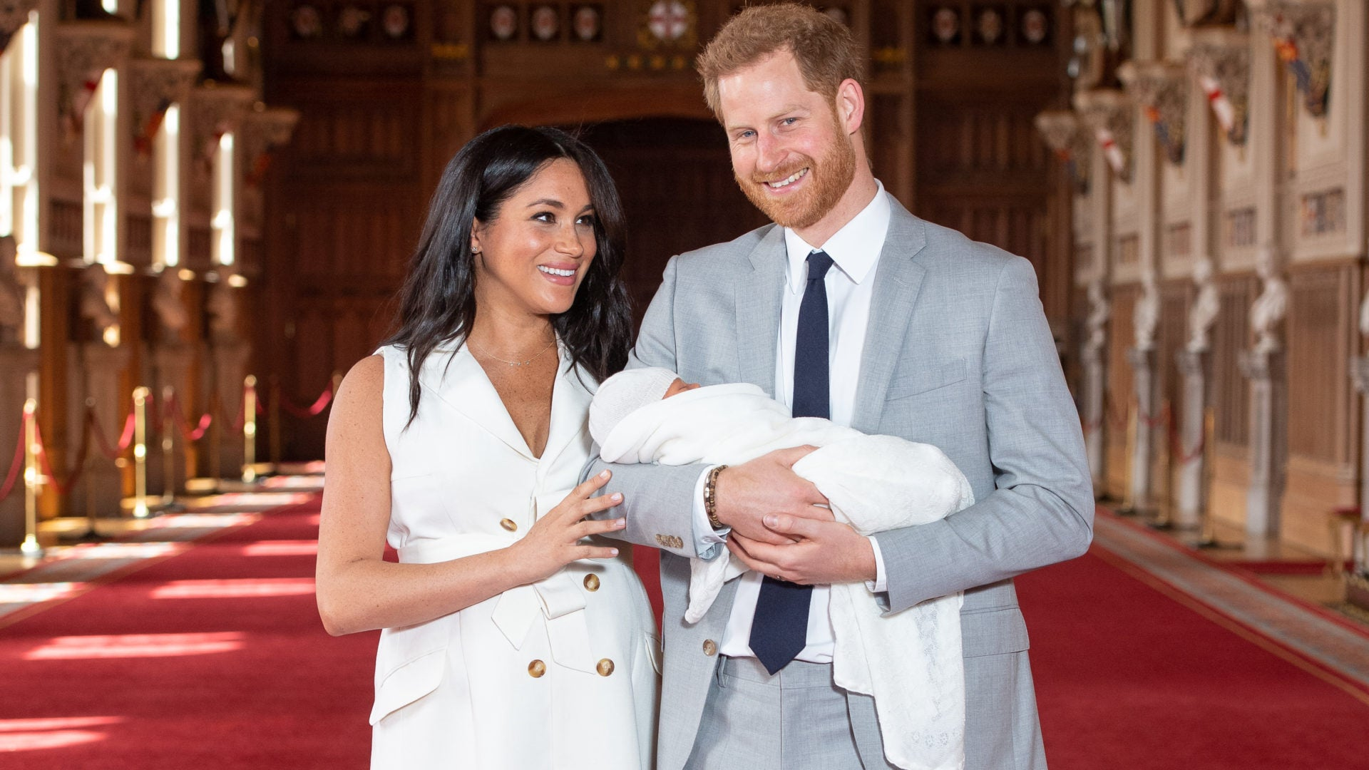 He's Here! Prince Harry and Meghan Markle Debut Their Baby Boy