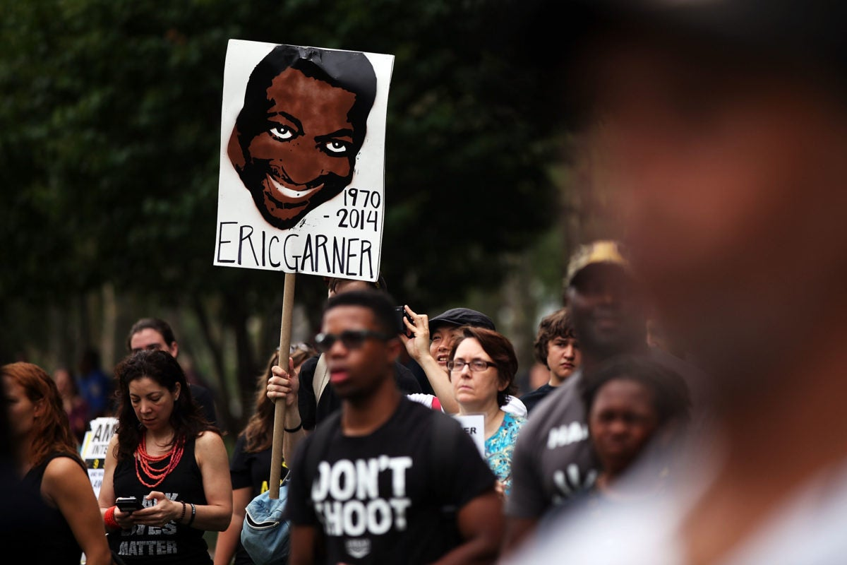 protest sign for Eric Garner (trending)