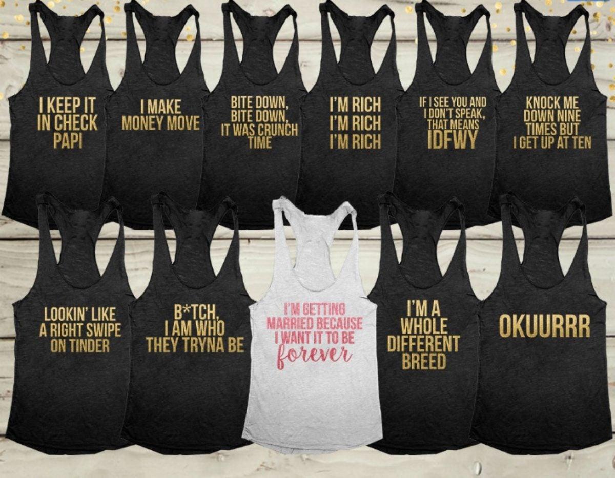 4c9102ff 7 Bachelorette T-Shirts Every Black Bridal Squad Needs Right Now ...