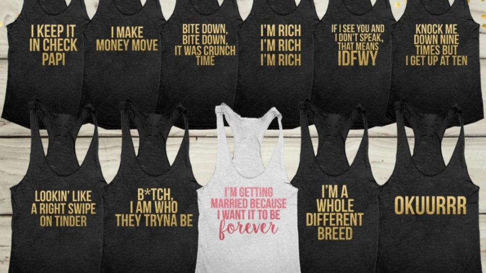 7 Bachelorette T-Shirts Every Black Bridal Squad Needs Right Now