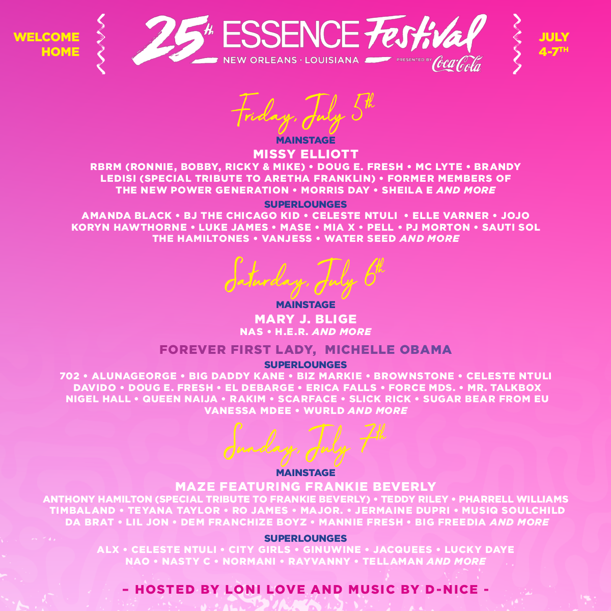 Essence Music Festival 2020.25th Anniversary Essence Festival 2019 Essence