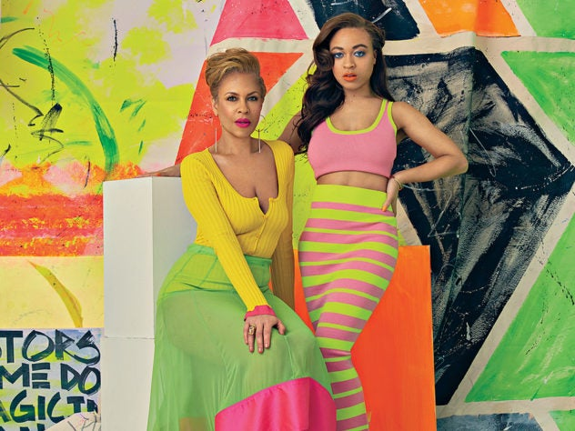 Mother And Daughter Duo Tonya Lewis Lee And Satchel Lee Shine Bright In Spring's Hottest Trend
