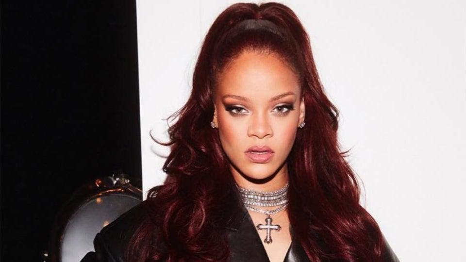 Exclusive: Rihanna Uses This $5  Shampoo To Make Her Red Hair Shine Bright Like A Diamond
