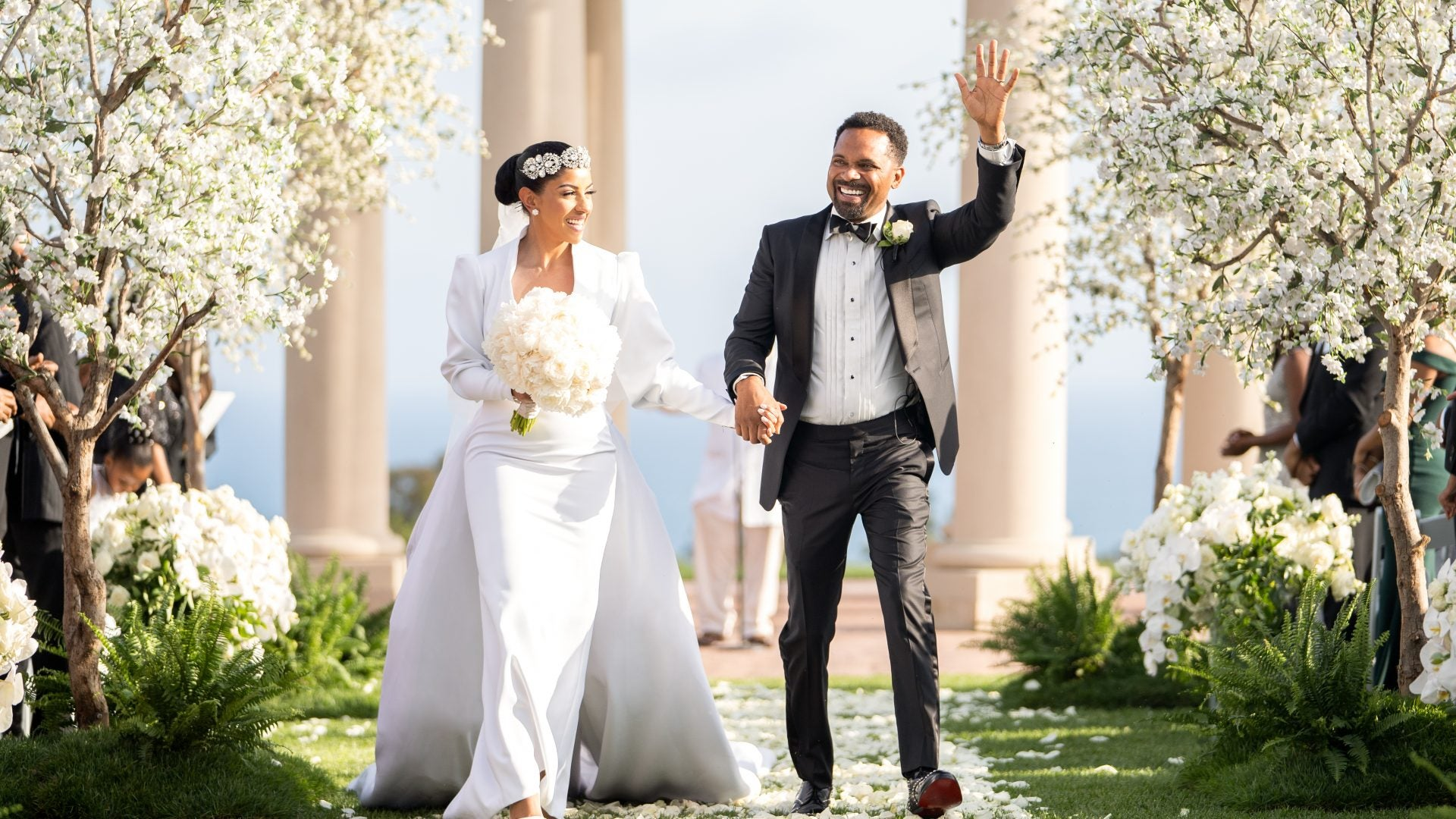 Bridal Bliss Exclusive: Mike and Kyra Epps Share Stunning Photos From Their California Wedding
