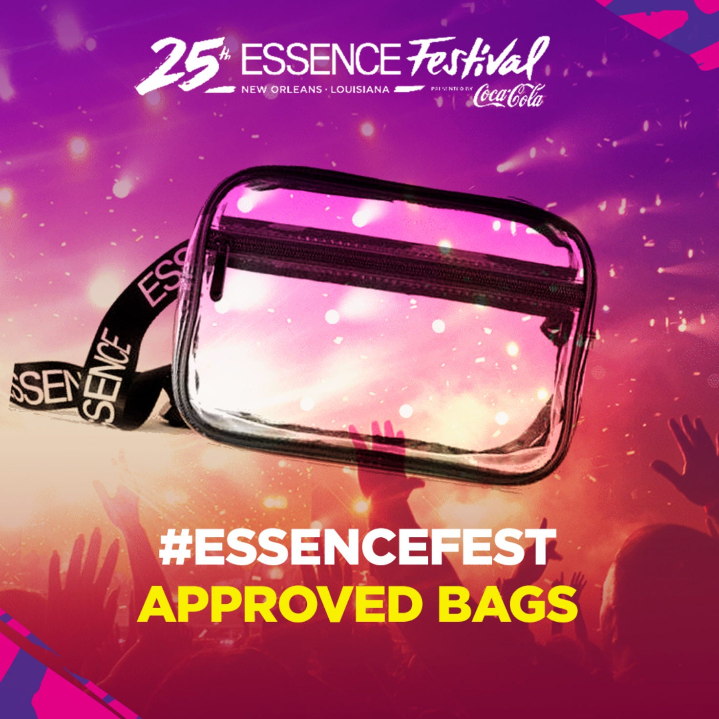 Grab These Clear Bags For ESSENCE Festival's Superdome