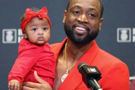 We're Obsessed With Dwyane Wade and Baby Kaavia's Cutest Twinning Moments
