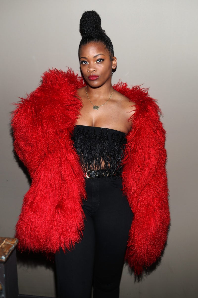 Image result for ari lennoxin red furcoat
