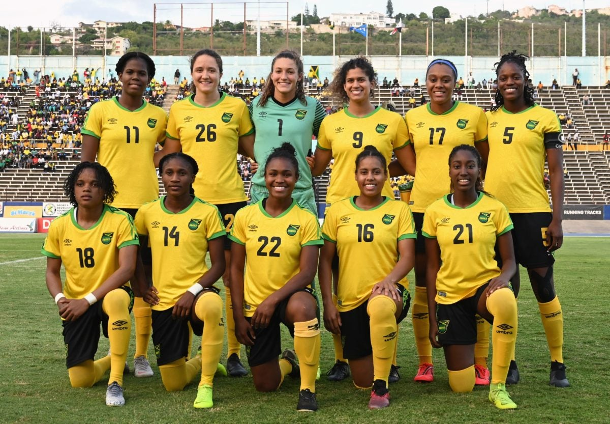 d6902645852 Jamaica's players pose for a team group photo (Photo credit ANGELA  WEISS/AFP/Getty Images)
