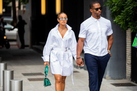 Karrueche Tran And Victor Cruz Slayed Milan Men's Fashion Week